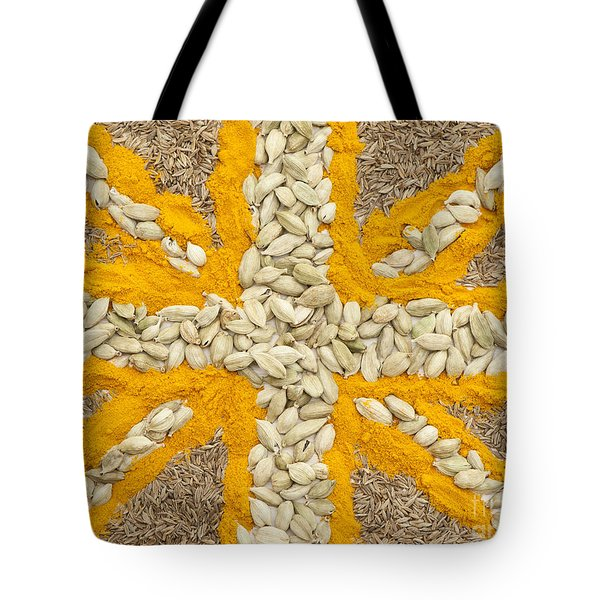 Curried Flag Tote Bag by Anne Gilbert