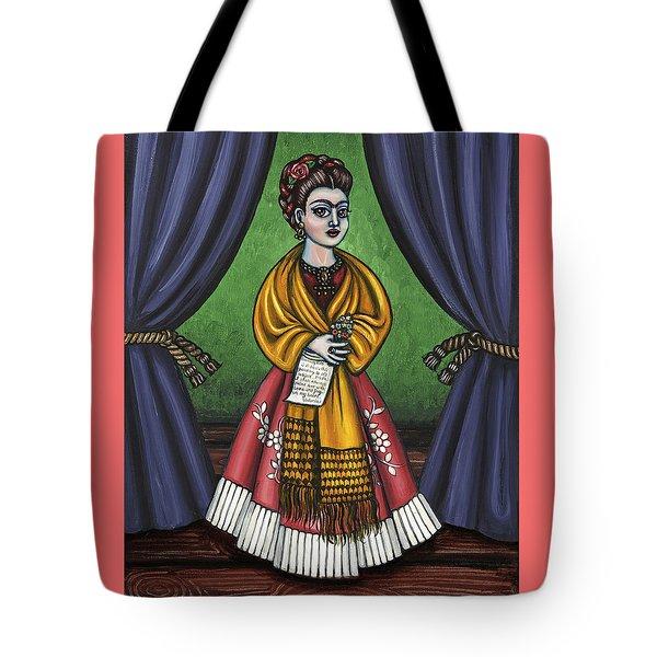 Curtains For Frida Tote Bag by Victoria De Almeida