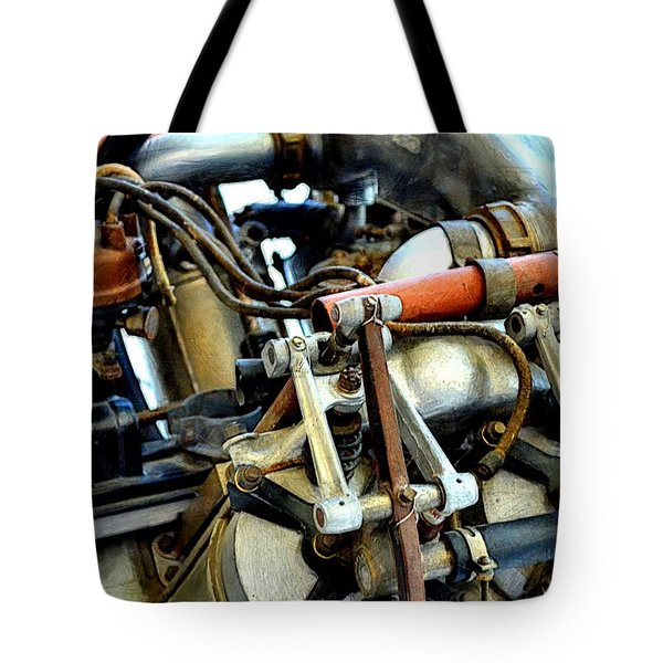 Curtiss OX-5 Airplane Engine Tote Bag by Michelle Calkins