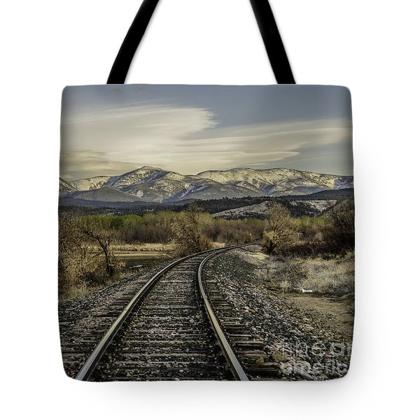 Curve In The Tracks Tote Bag by Sue Smith