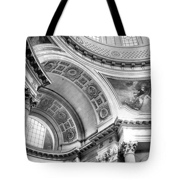 Curve Meets Pillar Tote Bag by Jenny Hudson