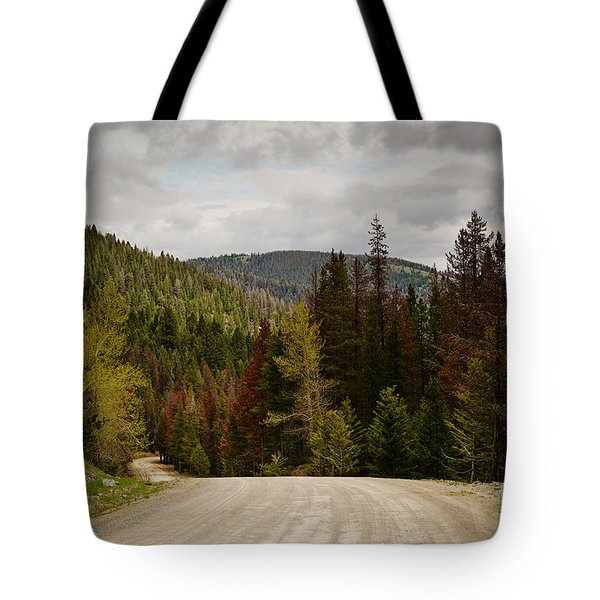 Curviing Dirt Road Tote Bag by Sue Smith