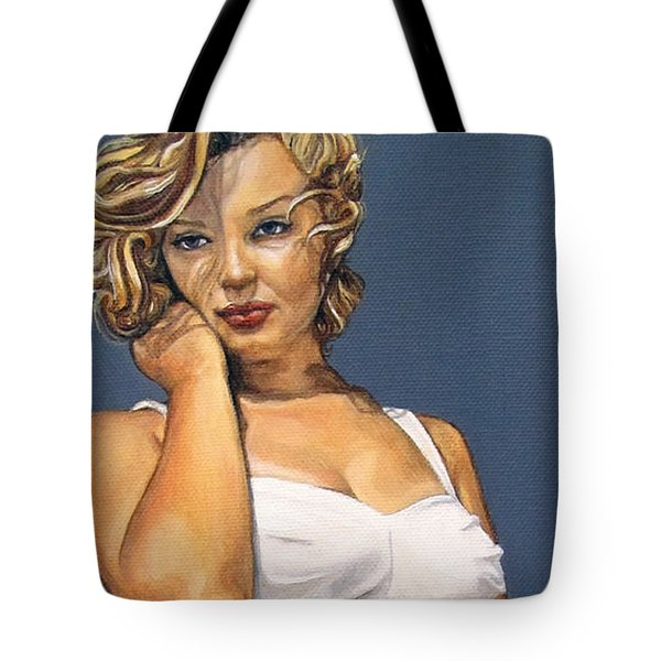 Curvy Beauties - Marilyn Monroe Tote Bag by Malinda  Prudhomme