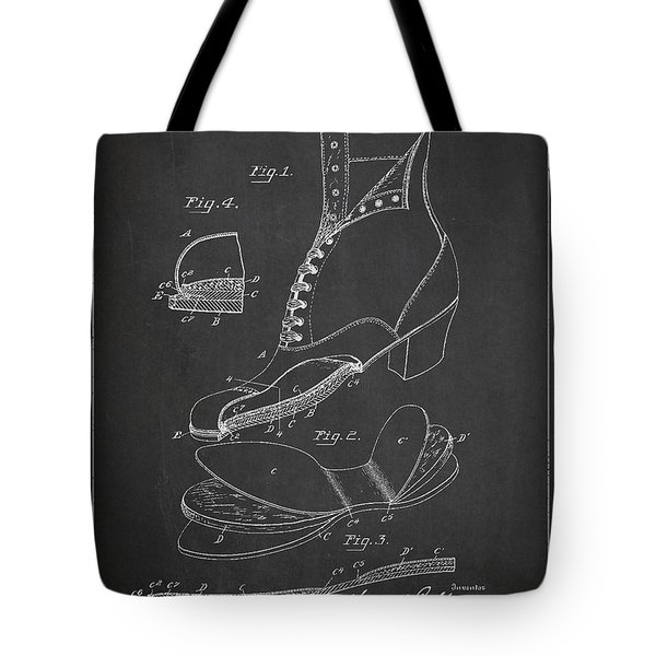 Cushion Insole For Shoes Patent Drawing From 1905 Tote Bag by Aged Pixel