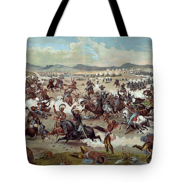 Custer's Last Charge Tote Bag by Unknown