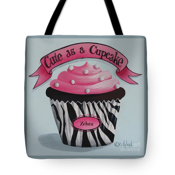 Cute As A Cupcake Tote Bag by Catherine Holman