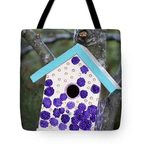 Cute Little Birdhouse Tote Bag by Carol Leigh