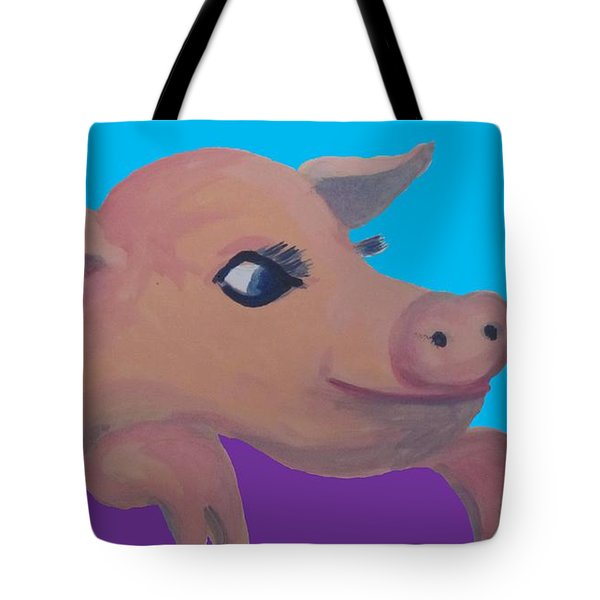 Cute Pig 1 Tote Bag by Cherie Sexsmith