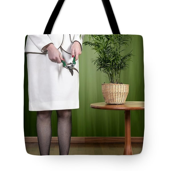 Cutting Plant Tote Bag by Joana Kruse