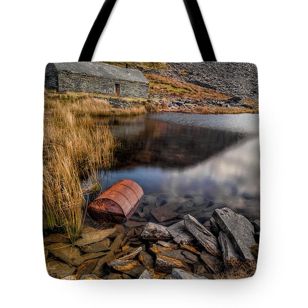 Cwmorthin Slate Quarry Tote Bag by Adrian Evans