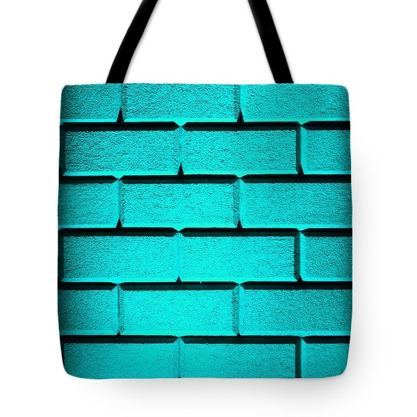 Cyan Wall Tote Bag by Semmick Photo