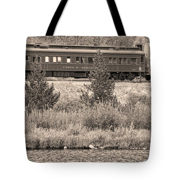 Cyrus K  Holliday Private Rail Car Bw Sepia Tote Bag by James BO  Insogna