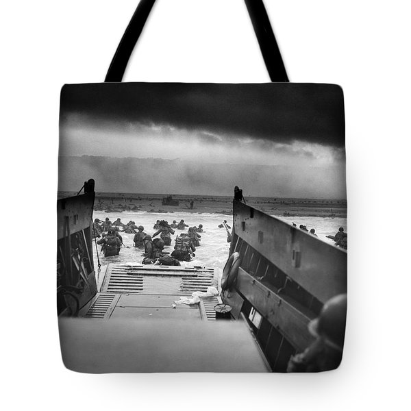 D-day Landing Tote Bag by War Is Hell Store