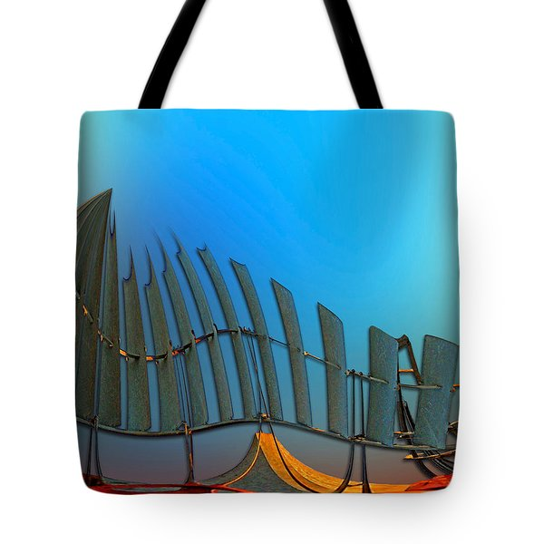 Da Vinci's Outpost Tote Bag by Wendy J St Christopher