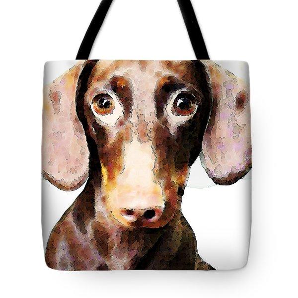 Dachshund Art - Roxie Doxie Tote Bag by Sharon Cummings