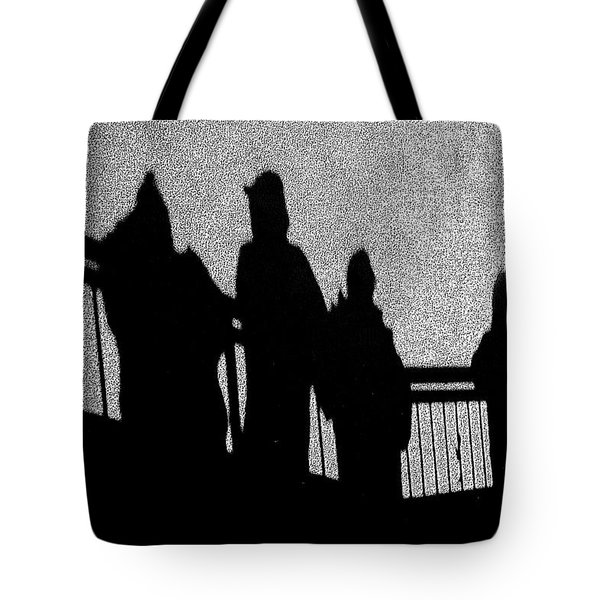 Dad And Three Boys Tote Bag by Tom Gari Gallery-Three-Photography