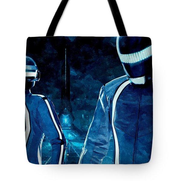 Daft Punk in Tron Legacy Tote Bag by Florian Rodarte