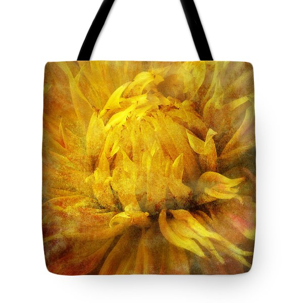 Dahlia Abstract Tote Bag by Garry Gay