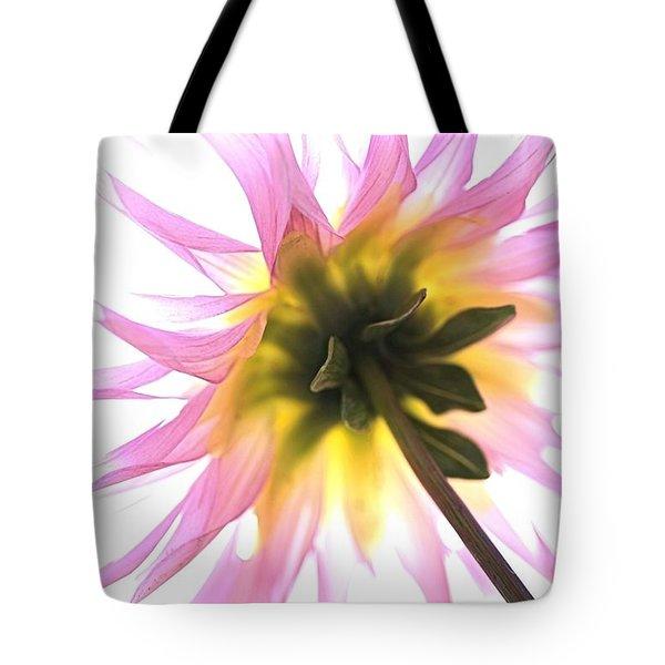 Dahlia Flower Tote Bag by Joy Watson