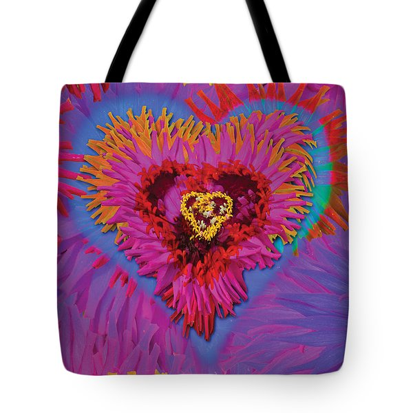 Dahlia Rainbow Tote Bag by Alixandra Mullins