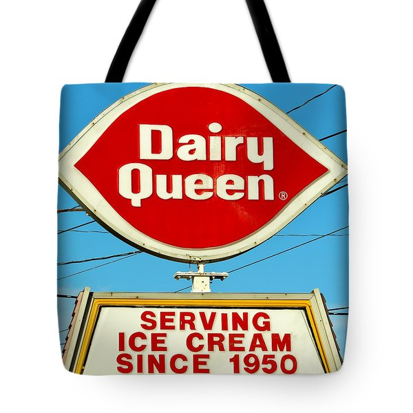 Dairy Queen Sign Tote Bag by Cynthia Guinn