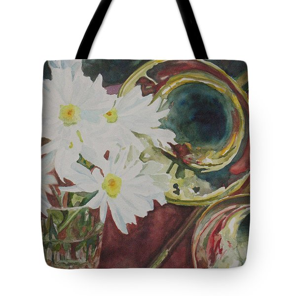 Daisies Bold As Brass Tote Bag by Jenny Armitage
