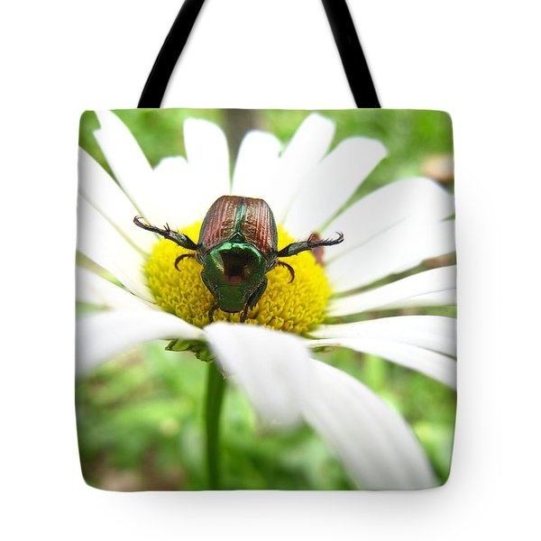 Daisies Bug Tote Bag by Jennifer E Doll