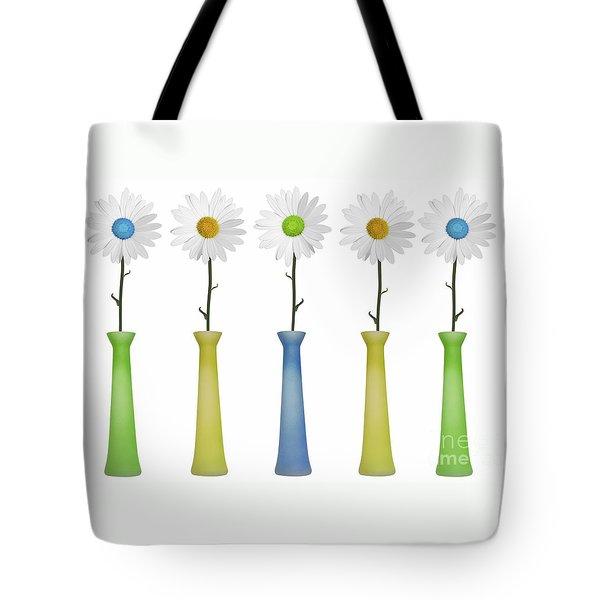 Daisies Tote Bag by Diane Diederich