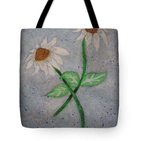 Daisies In Stormy Skies Tote Bag by Jennifer Schwab