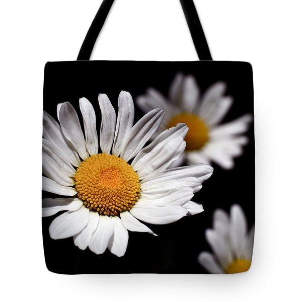 Daisies Tote Bag by Rona Black