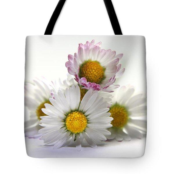 Daisies Tote Bag by Terri Waters