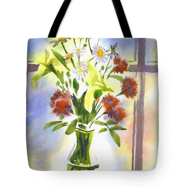 Daisy Supreme Tote Bag by Kip DeVore
