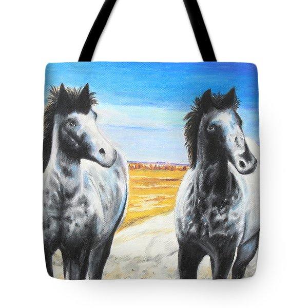 Dakota Nokota's Tote Bag by Jeanne Fischer
