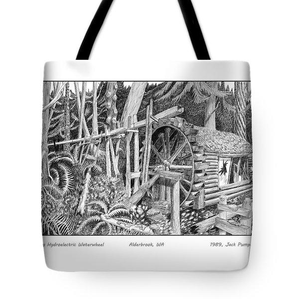 Dalby Waterwheel Hood Canal W A Tote Bag by Jack Pumphrey