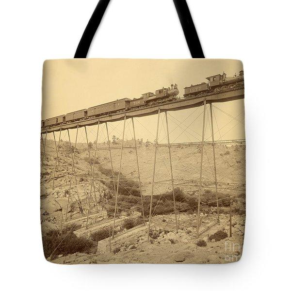 Dale Creek Bridge Union Pacific Tote Bag by Getty Research Institute
