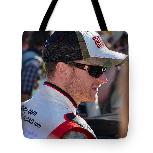 Dale Earnhardt Jr. Tote Bag by Mark Spearman