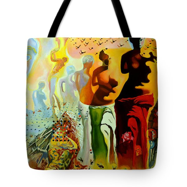 Dali Oil Painting Reproduction - The Hallucinogenic Toreador Tote Bag by Mona Edulesco