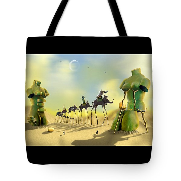 Dali On The Move  Tote Bag by Mike McGlothlen