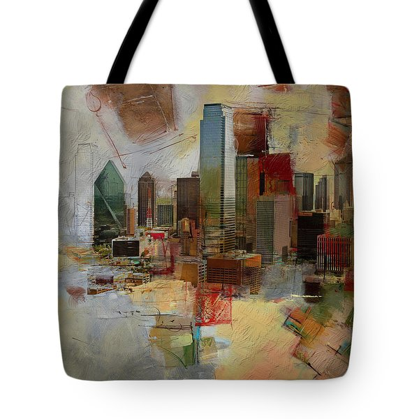 Dallas Skyline 003 Tote Bag by Corporate Art Task Force
