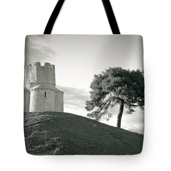 Dalmatian stone church on the hill Tote Bag by Dalibor Brlek