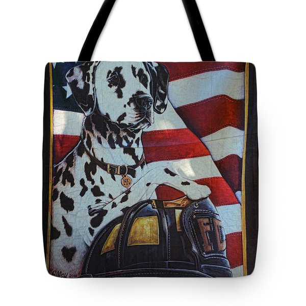 Dalmatian The Firefighters Mascot Tote Bag by Paul Ward
