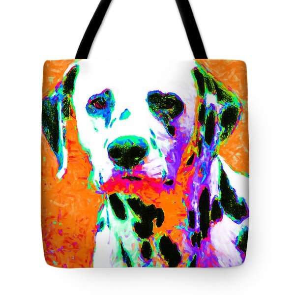 Dalmation Dog 20130125v2 Tote Bag by Wingsdomain Art and Photography