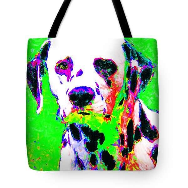 Dalmation Dog 20130125v3 Tote Bag by Wingsdomain Art and Photography