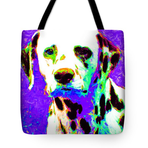 Dalmation Dog 20130125v4 Tote Bag by Wingsdomain Art and Photography