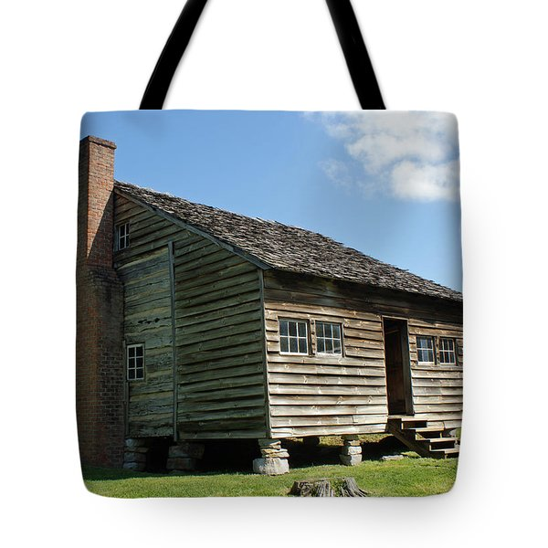 Dan Lawson Cabin In Cades Cove Tote Bag by Roger Potts