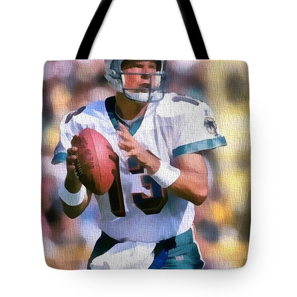 Dan Marino Canvas Tote Bag by Dan Sproul