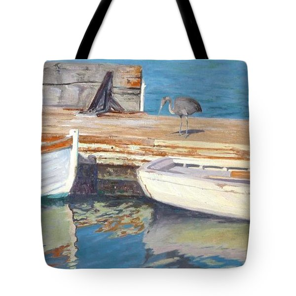 Dana Point Harbor Boats Tote Bag by Sharon Weaver