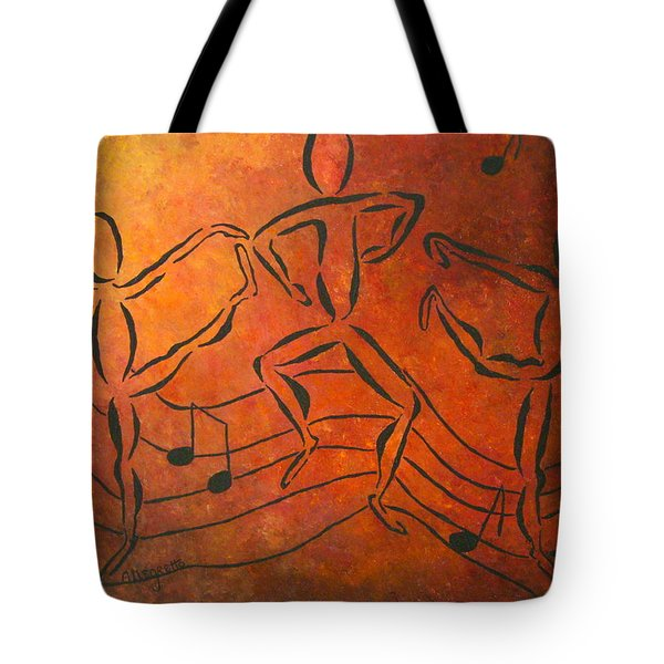 Dance Fever Tote Bag by Pamela Allegretto