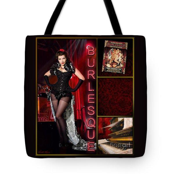 Dance Series - Burlesque Tote Bag by Linda Lees
