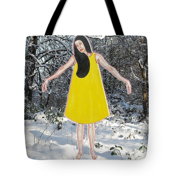 Dancer In The Snow Tote Bag by Patrick J Murphy